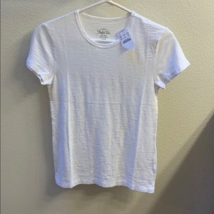 J Crew New with Tags White Studio Tee in Size XS